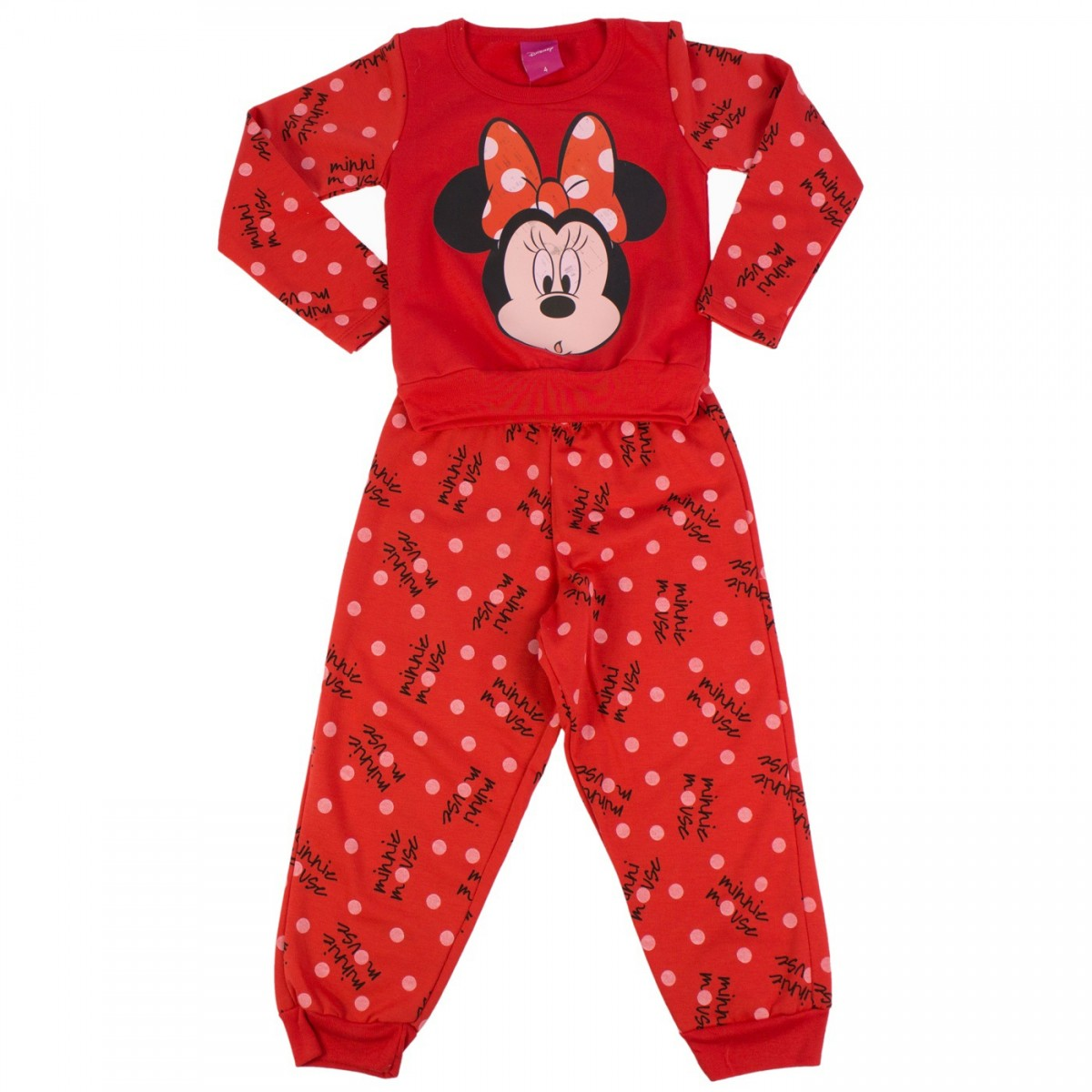 e6fb83bdf8ef0e Pijama Infantil Lupo Disney Minnie Moletom 21.181