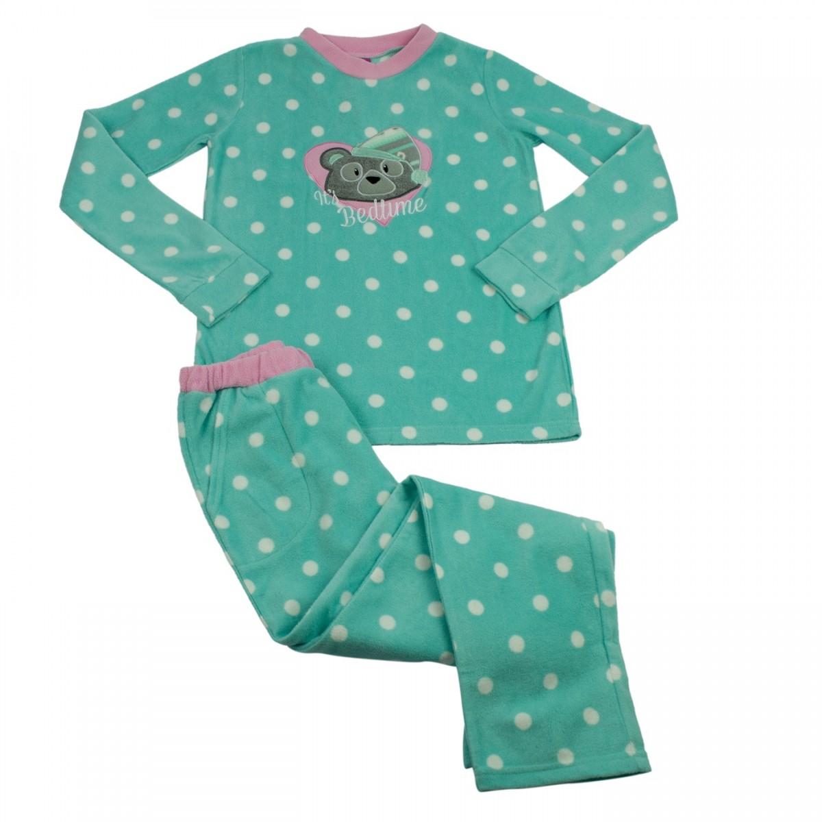 6c1391f80 Bizz Store - Pijama Infantil Menina Puket Soft Urso Verde