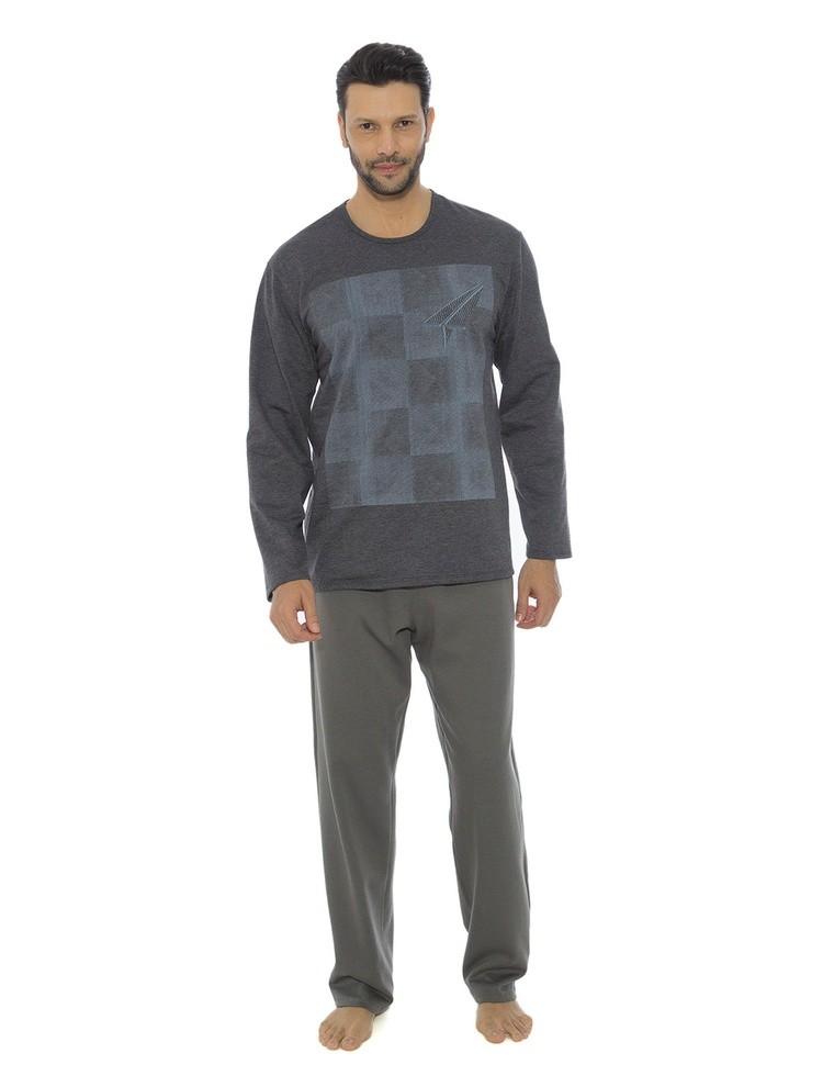 fd17936e7df Bizz Store - Pijama Masculino Recco Moletom Inverno Branco Cinza