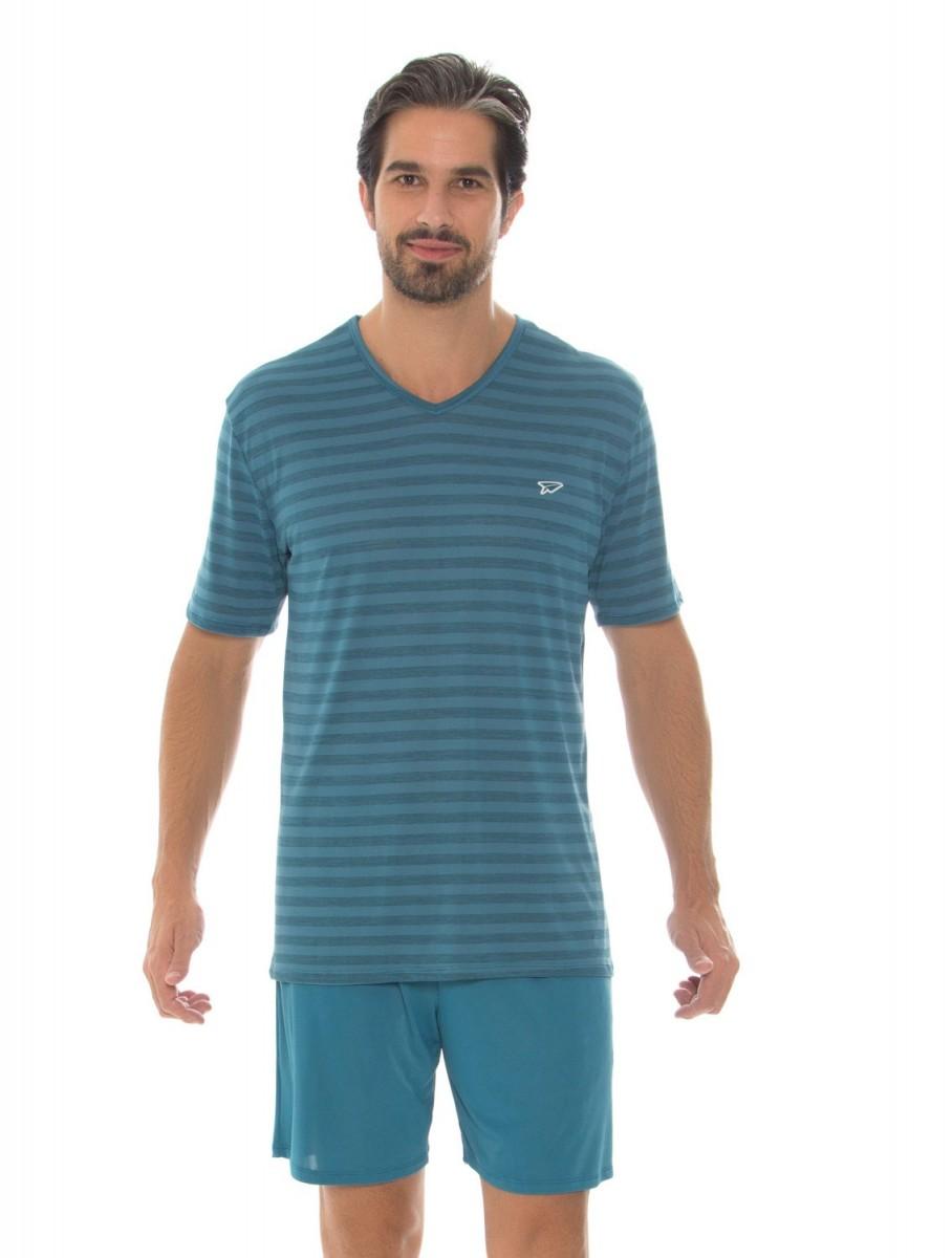 360b53424 Imagem - Pijama Masculino Recco Modo Avião Listrado 09482 - 051703