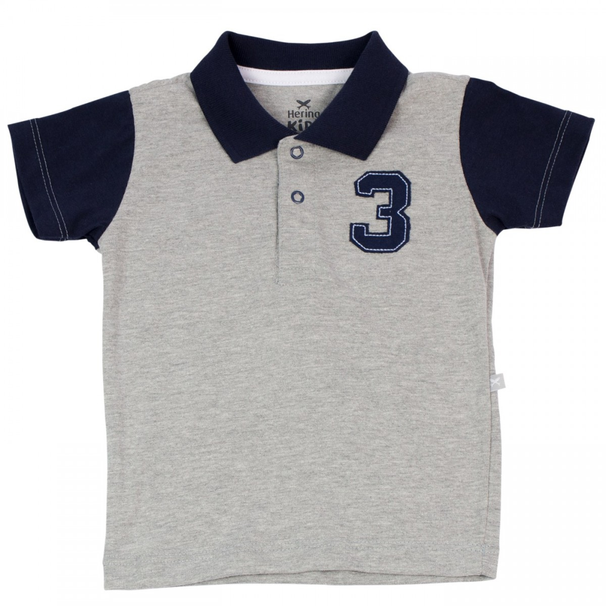 5cbef7f06732d Bizz Store - Camisa Polo Infantil Bebê Menino Manga Curta Cinza