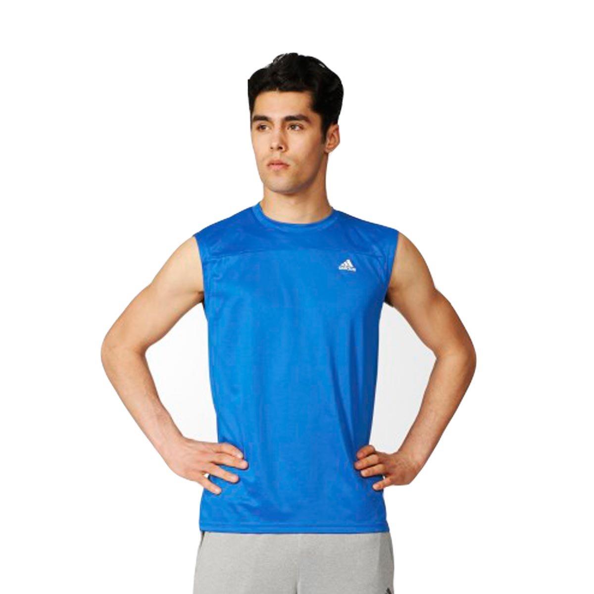 Bizz Store - Regata Masculina Adidas Base Plain Azul Treino e473c546925