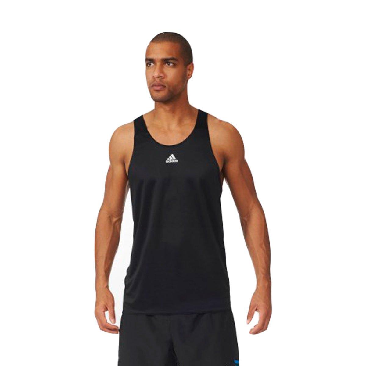 Bizz Store - Regata Masculina Adidas Response M Corrida Preta 9febbfa56dd24