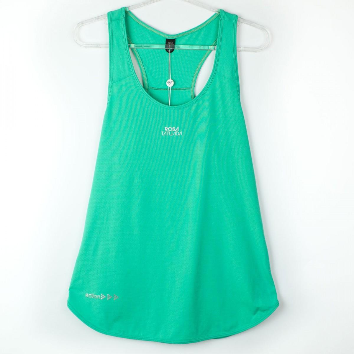 Bizz Store - Regata Feminina Rosa Tatuada New Trip Fitness 3610 7305bff6b69