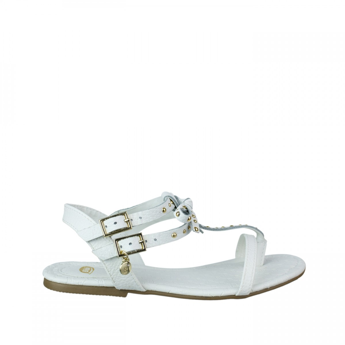 e079aba8f8 Bizz Store - Sandália Infantil Feminina Bibi Confetti Branca