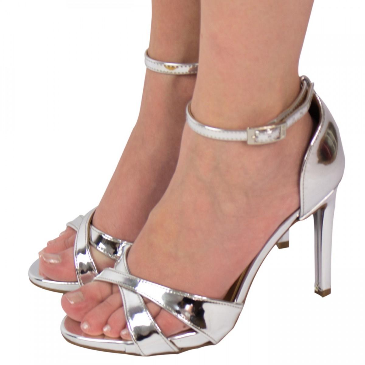 f31e5d542 Bizz Store - Sandália Feminina Vizzano Metal Glamour Salto Alto