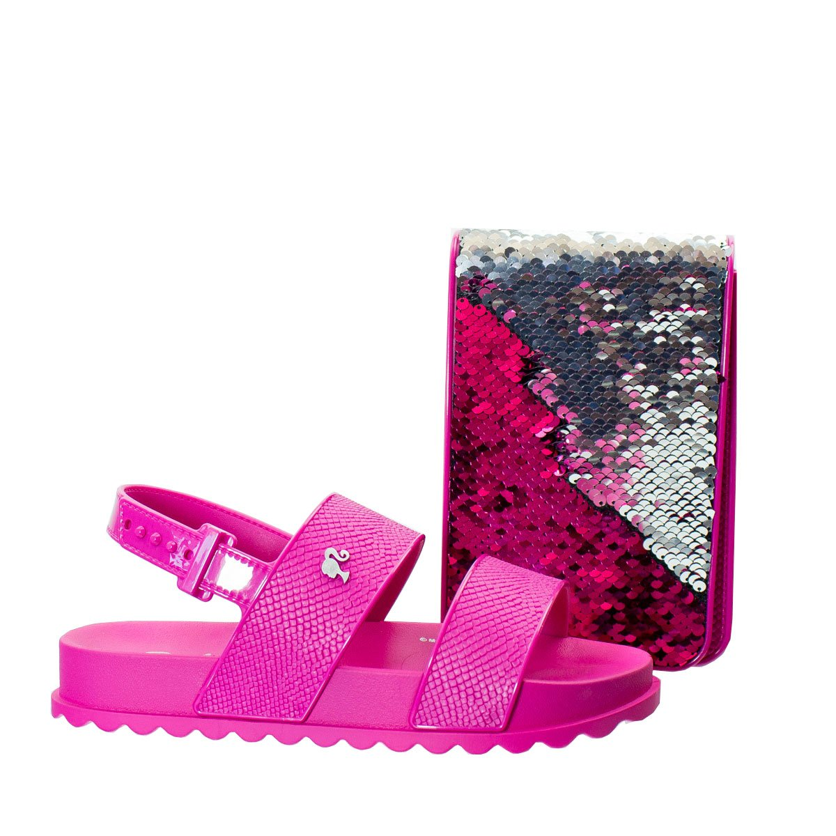 c02479ca66 Bizz Store - Sandália Infantil Grendene Barbie Duo Shine Bolsa