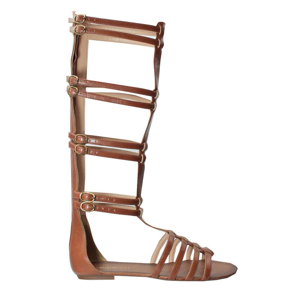 847ac73b9c Bizz Store - Sandália Gladiadora Feminina Lilly s Closet Camel