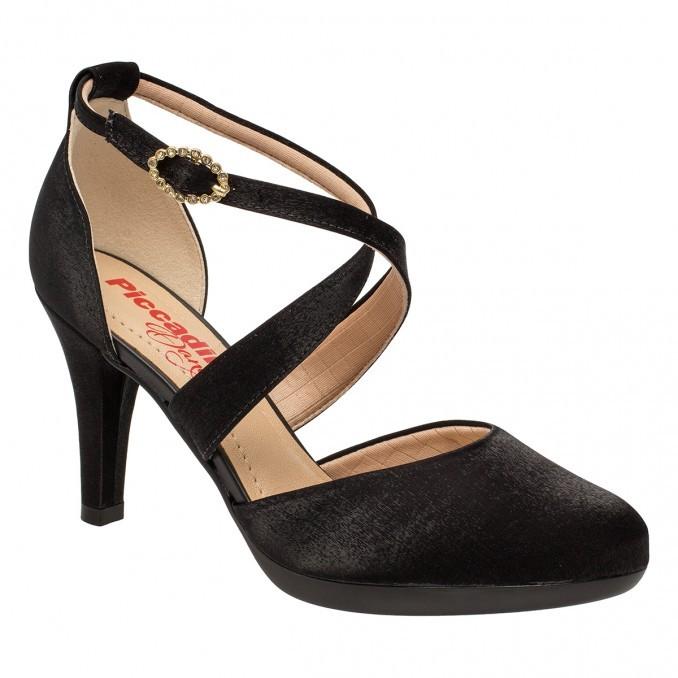 ff514432b8 Bizz Store - Sapato Feminino Piccadilly Tecido Acetinado Preto