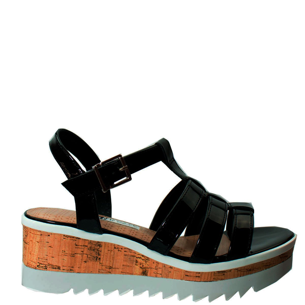 3fd429aba Bizz Store - Sandália Tratorada Feminina Via Marte Metalizada