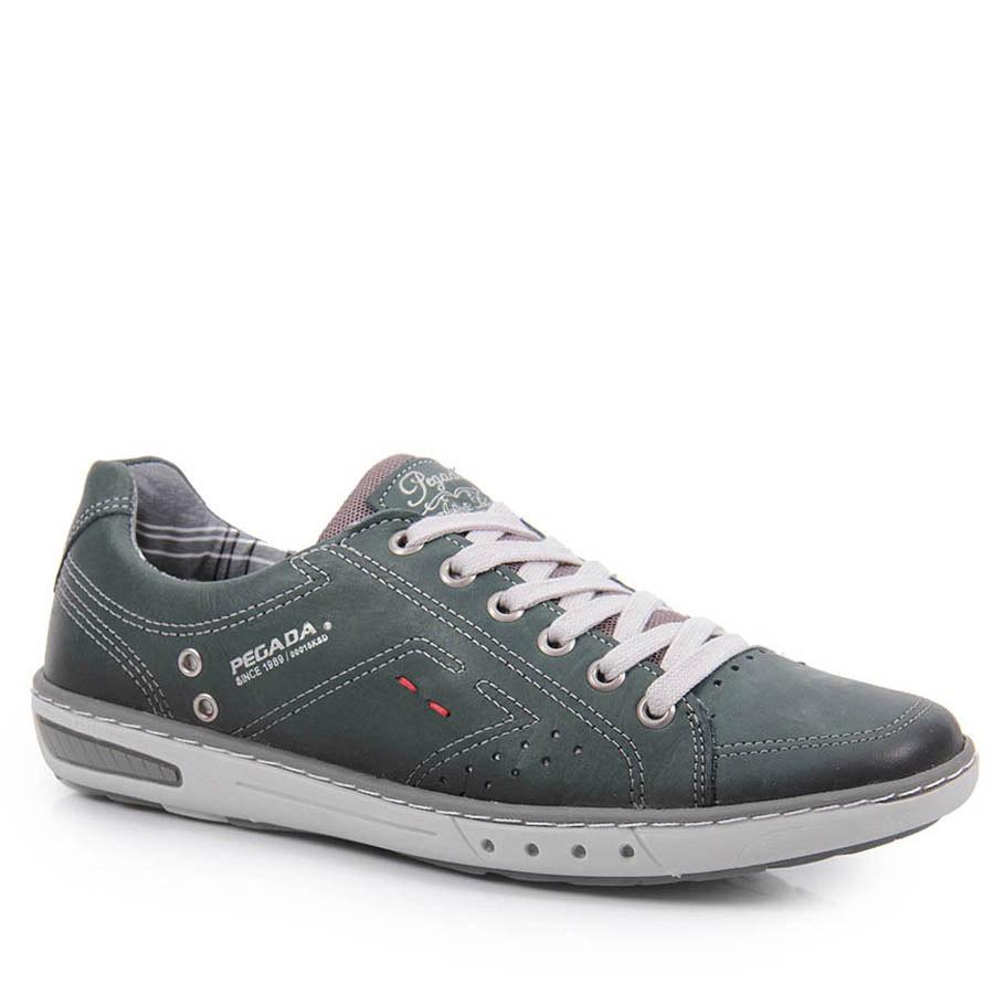 8de96b9d9f Bizz Store - Sapatênis Masculino Pegada Verde Couro 12123