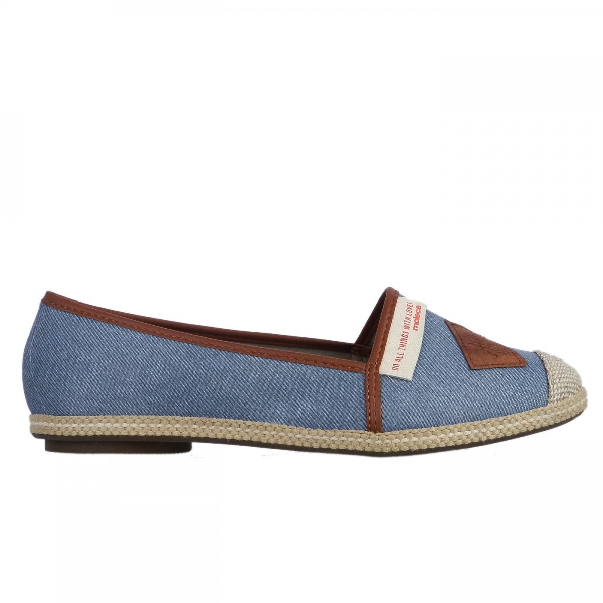 a674971f2 Bizz Store - Sapatilha Feminina Moleca Tecido Jeans Azul Casual