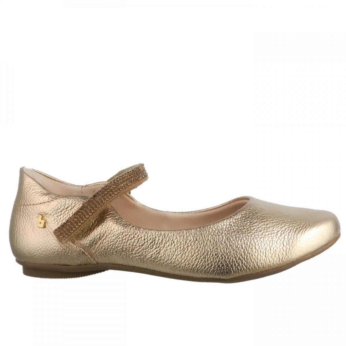 ade1b82cfa4 Bizz Store - Sapatilha Infantil Feminina Bibi Melody II Dourada