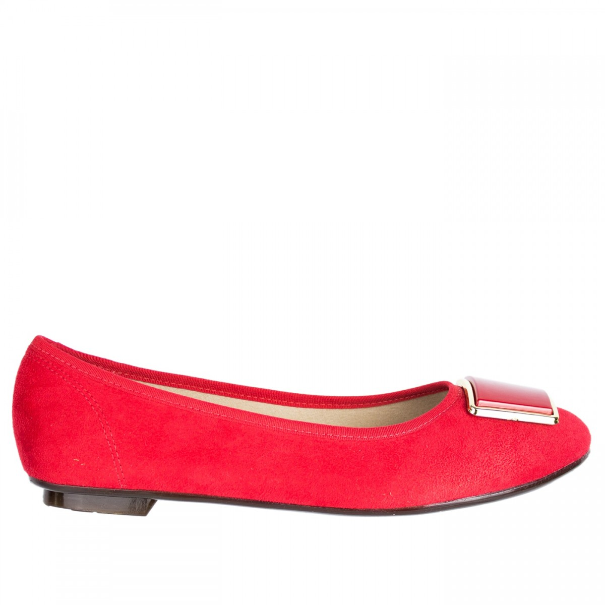 88be59767 Bizz Store - Sapatilha Feminina Moleca Couro Nobuck Vermelha