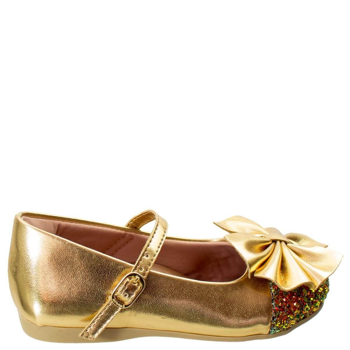 cddc982dcb Bizz Store - Sapatilha Infantil Menina Ortopé Fofura Dourada