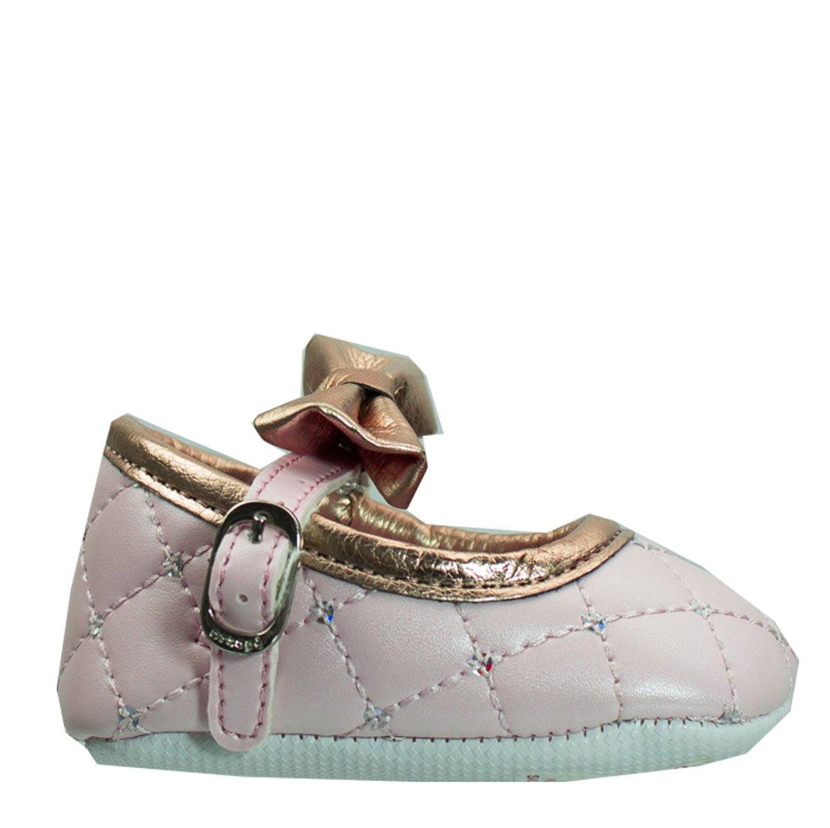 61669f6658 Bizz Store - Sapato Menina Recém Nascido Ortopé Perolado