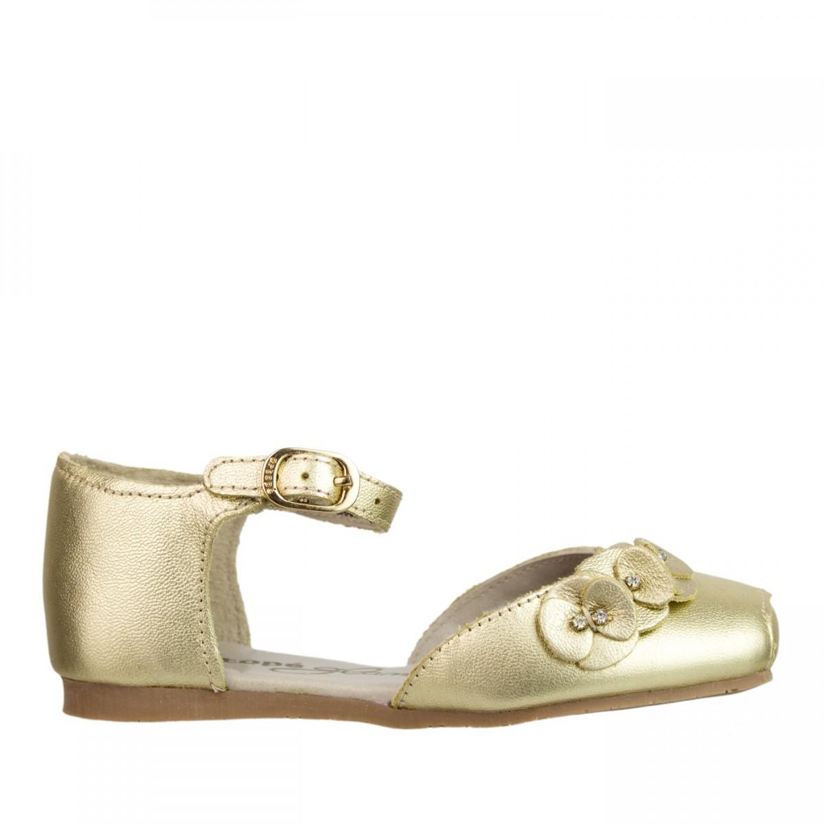 11a00671b85 Bizz Store - Sapatilha Infantil Feminina Ortopé Sapeca Dourada