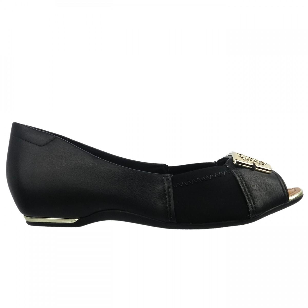 cc5b4eab86 Bizz Store - Sapatilha Peep Toe Feminina Comfortflex Neoprene