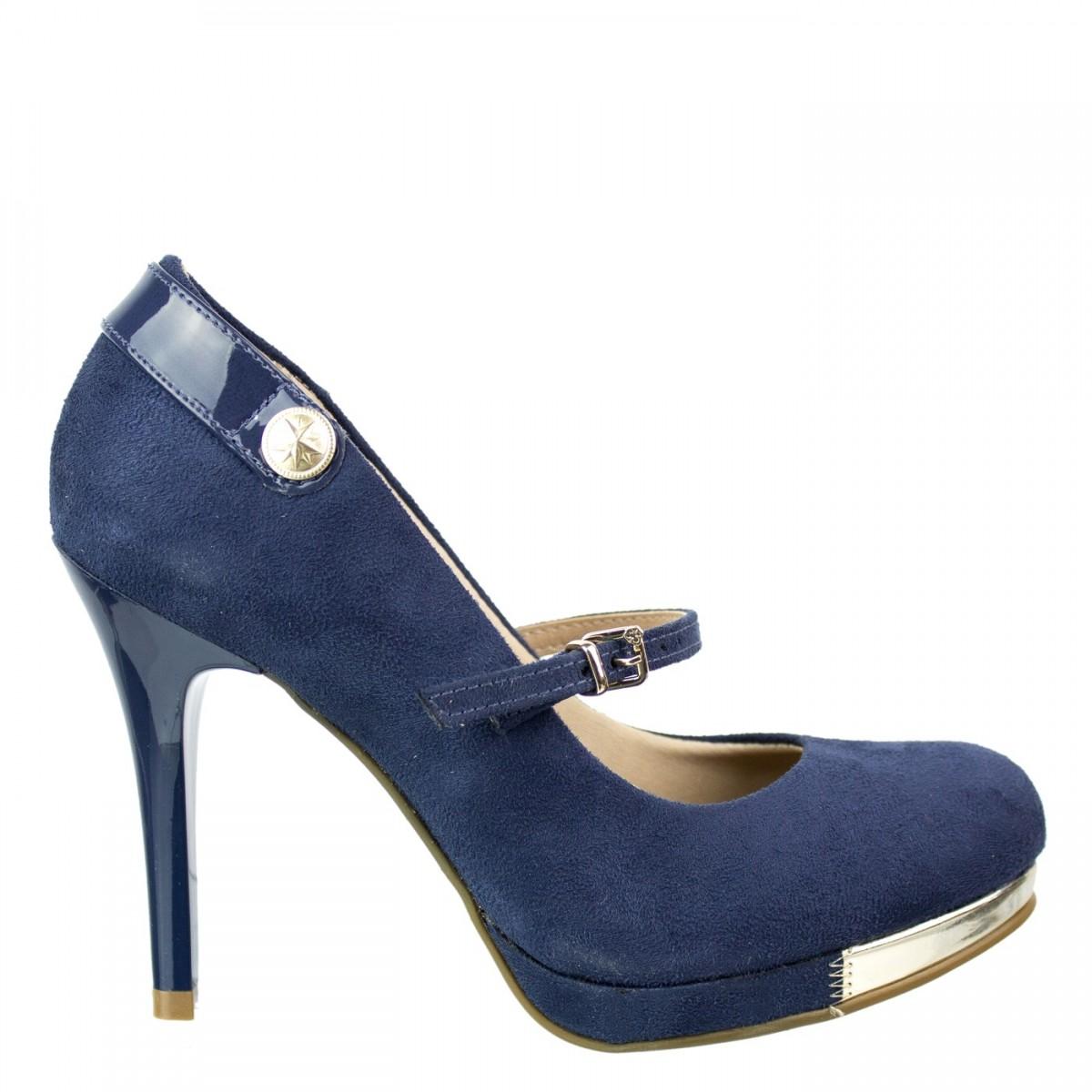 Sapato Camurça Bebecê 8082-109 - Azul  1d778899c7b03