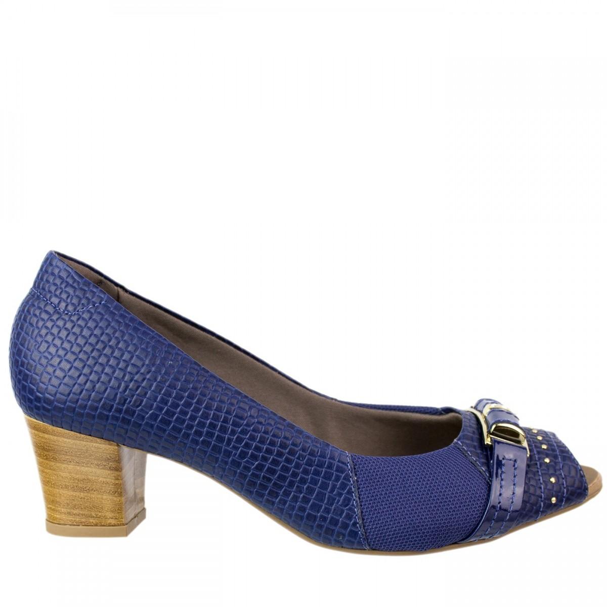 f7df30bb6c Sapato Caprina Usaflex Q6612 - Azul