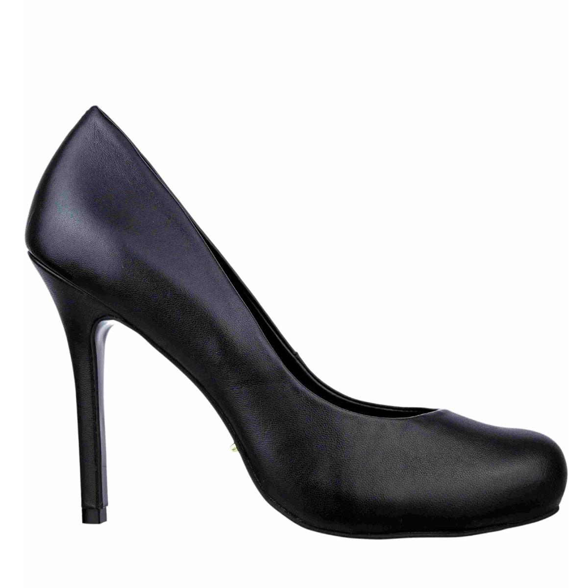 Bizz Store - Sapato Feminino Cristófoli Salto Alto Couro Preto f64474198e