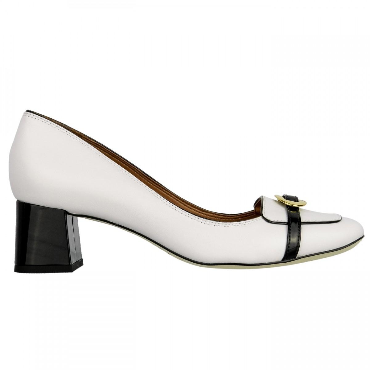 7c2aa532d2 Bizz Store - Sapato Feminino Luz da Lua Saara Couro Legítimo Branco
