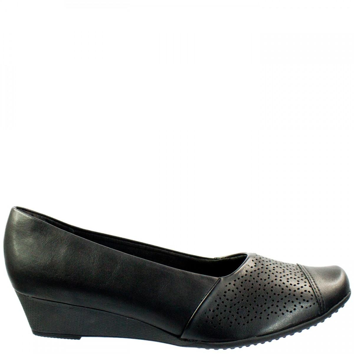 31f859580 Bizz Store - Sapato Feminino Piccadilly Joanete Preto Anabela