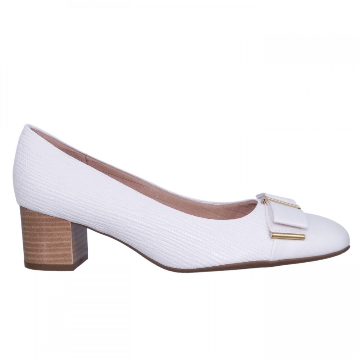 06054253e Bizz Store - Sapato Feminino Piccadilly Riscado Branco/Branco