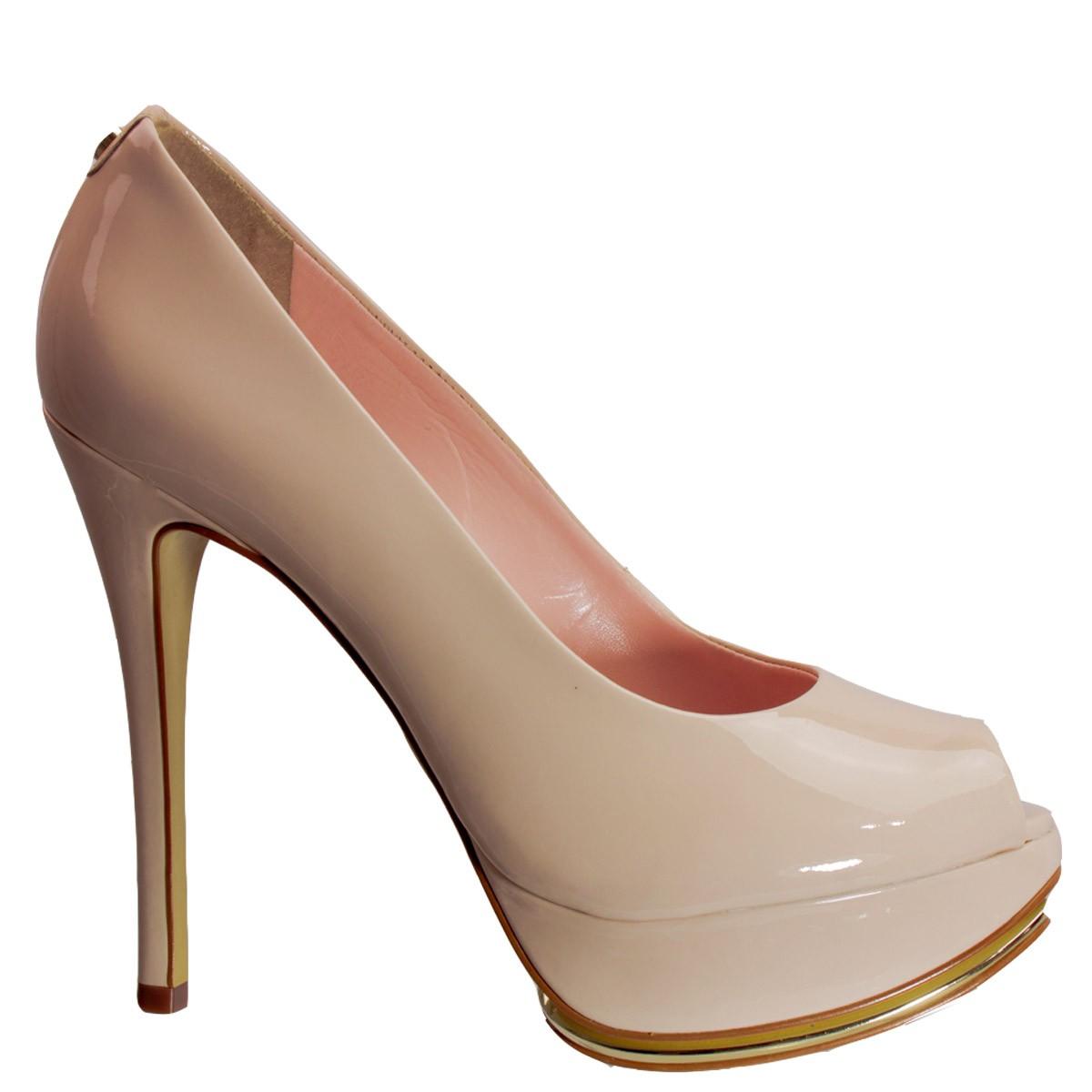 91872dac7d Bizz Store - Sapato Peep Toe Feminino Jorge Bischoff Salto Alto