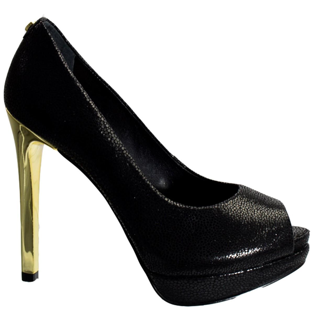 fb67a0f1e1 Bizz Store - Sapato Peep Toe Feminino Jorge Bischoff Preto