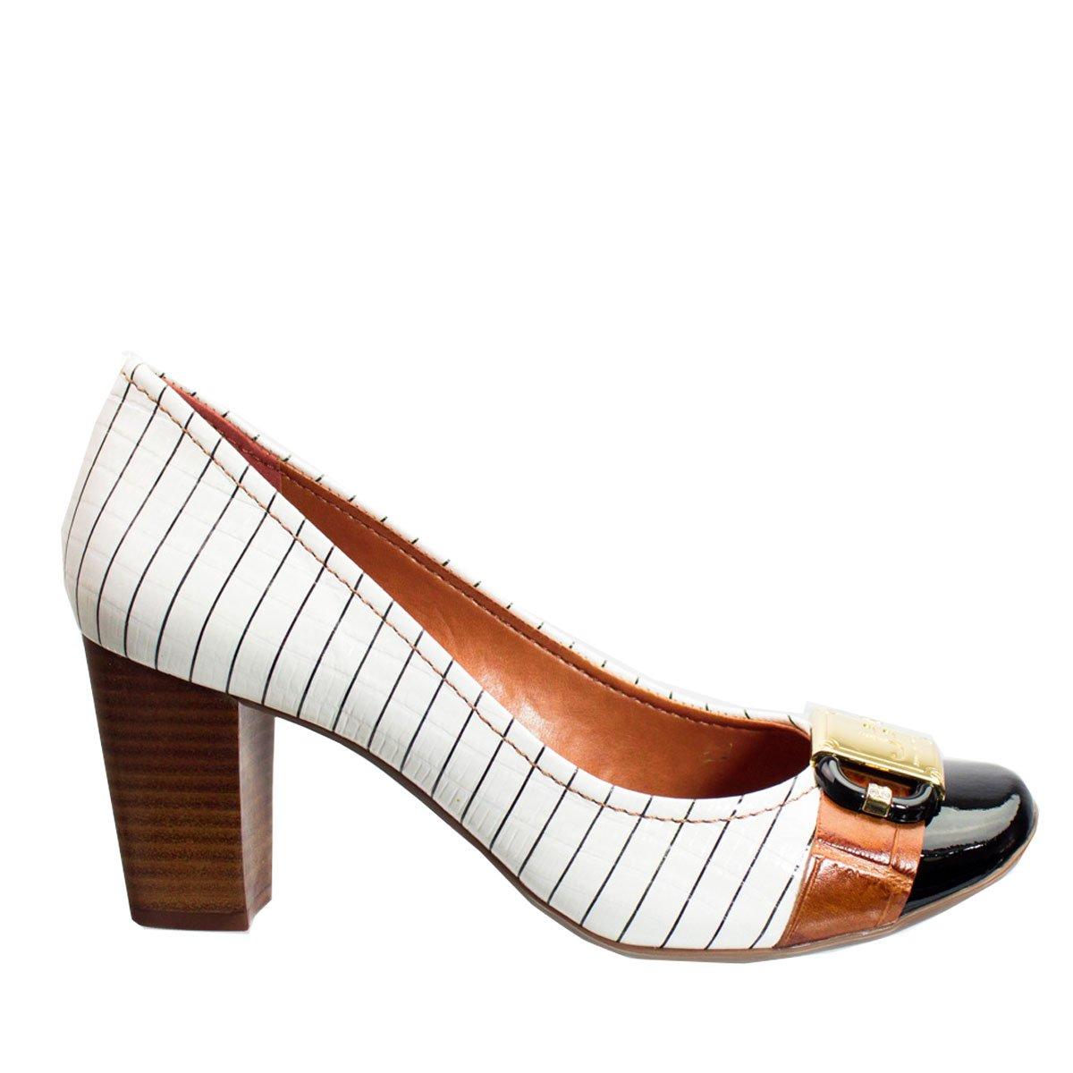 33026c4230 Bizz Store - Sapato Feminino Jorge Bischoff Risca Giz Verniz