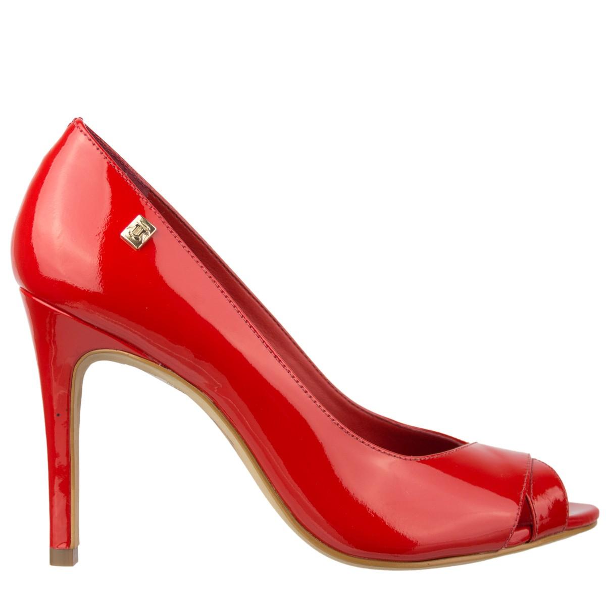a44827802 Bizz Store - Sapato Peep Toe Loucos e Santos Feminino Vermelho