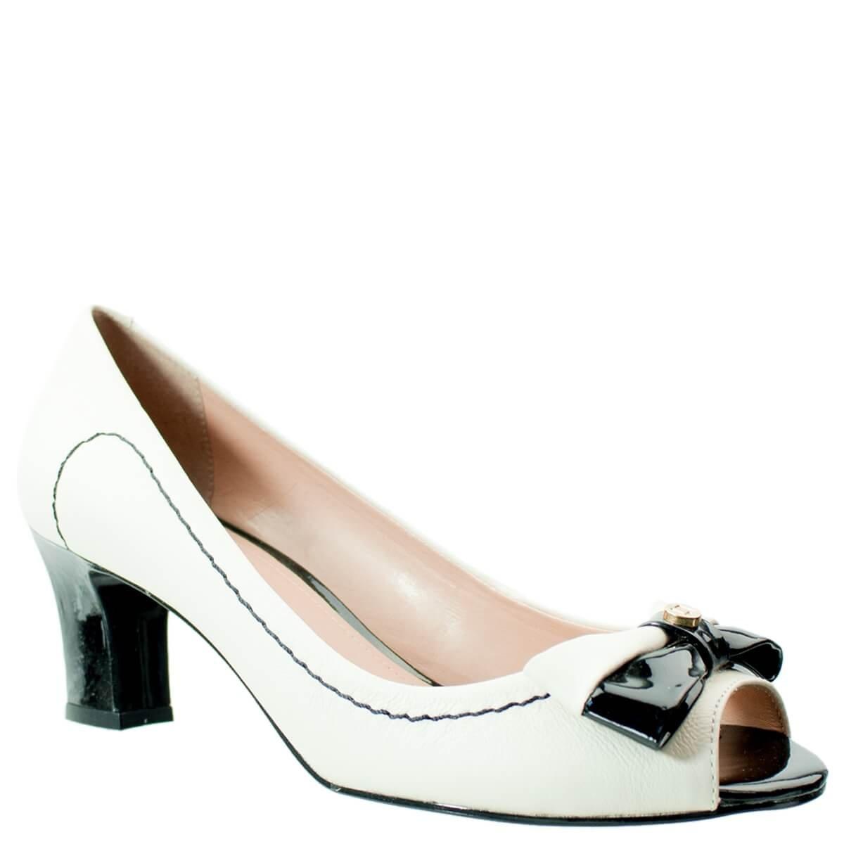 b4cb04530f Bizz Store - Sapato Peep Toe Feminino Luz da Lua