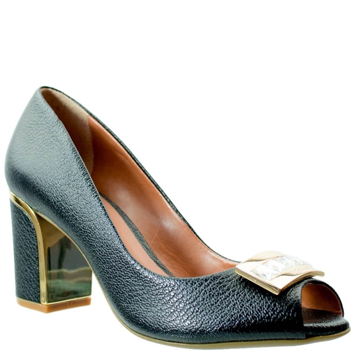 300fb16fb Bizz Store - Sapato Peep Toe Feminino Luz da Lua Bacco
