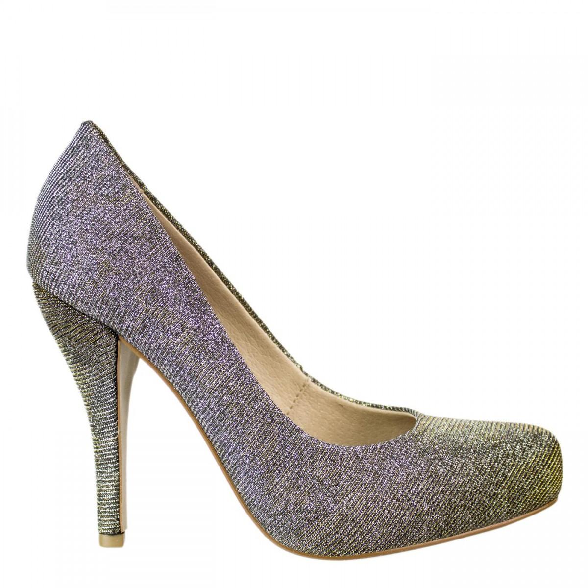 e0ca3273c Bizz Store - Sapato Feminino Miucha Salto Alto Glitter Festa