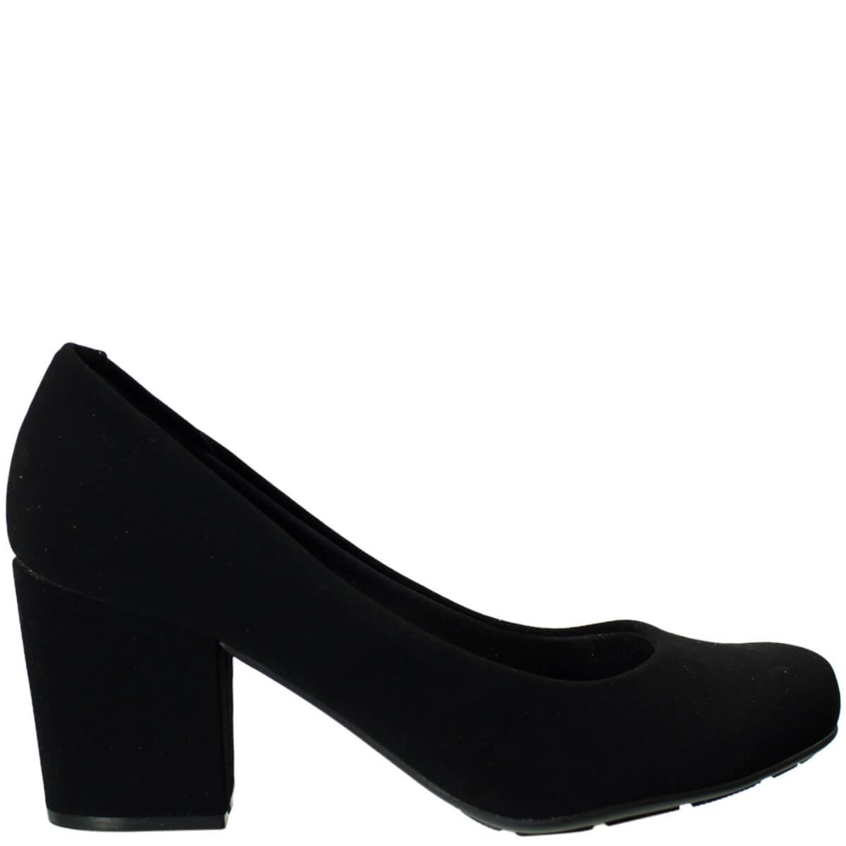 c9e75df1f Bizz Store - Sapato Feminino Moleca Verniz Nobuck Salto Grosso