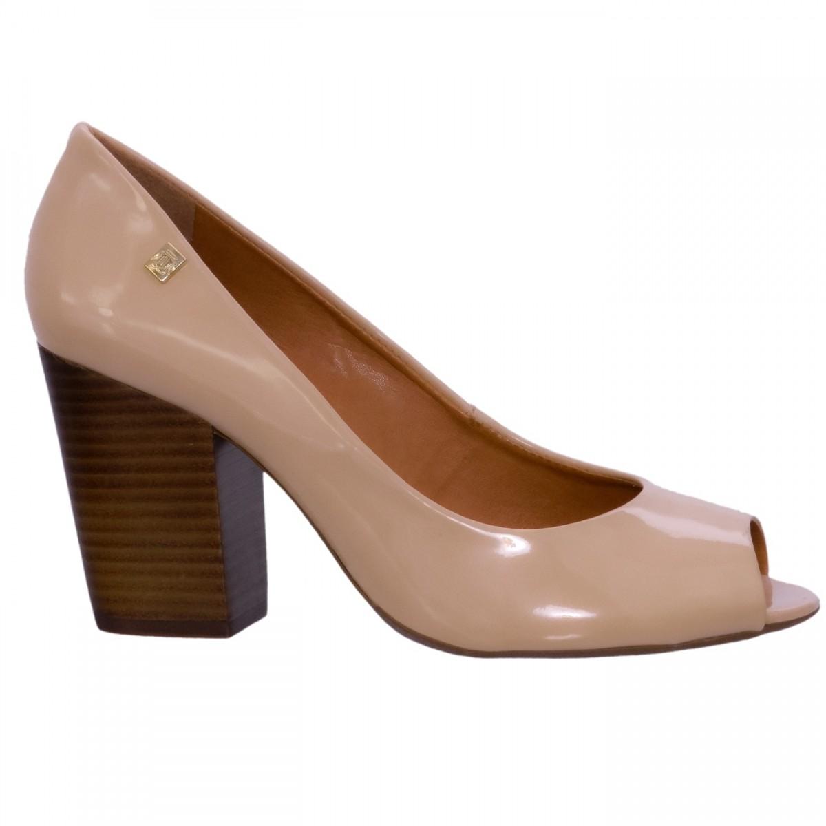acf6aebc6 Bizz Store - Sapato Peep Toe Feminino Loucos e Santos Verniz Nude
