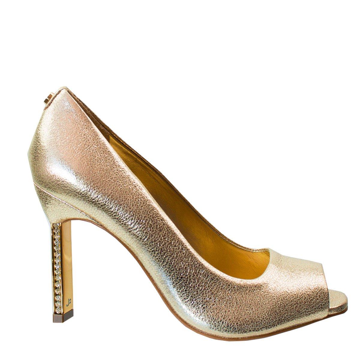 e6cd6ce80b Bizz Store - Sapato Peep Toe Feminino Jorge Bischoff Strass