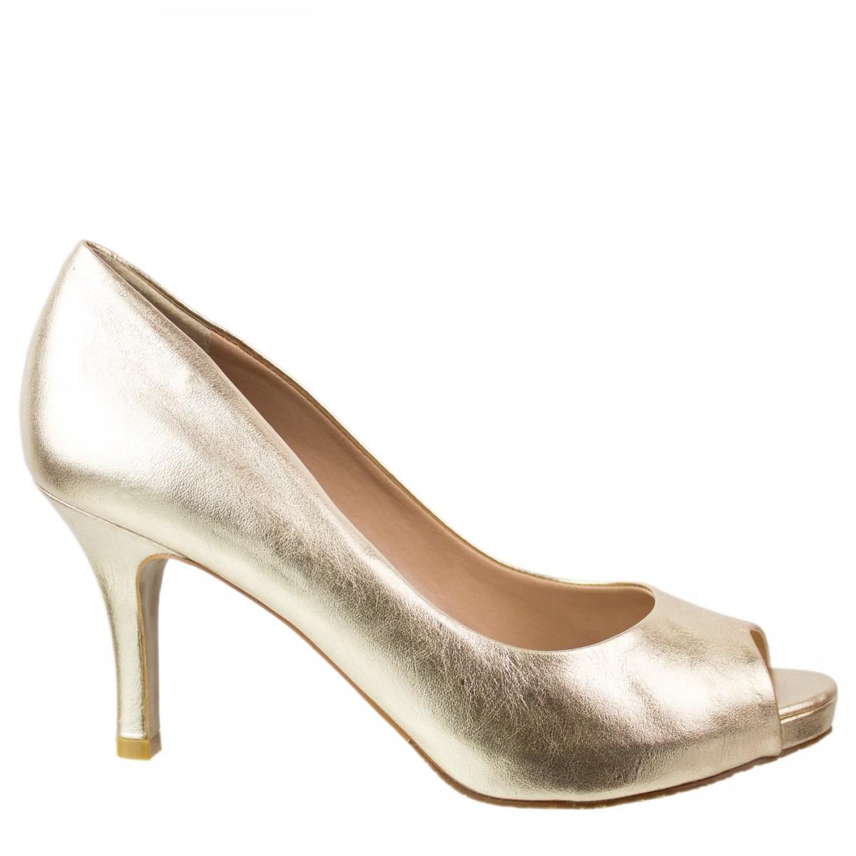 bc35d8744 Bizz Store - Sapato Peep Toe Feminino Luz da Lua Salto Alto