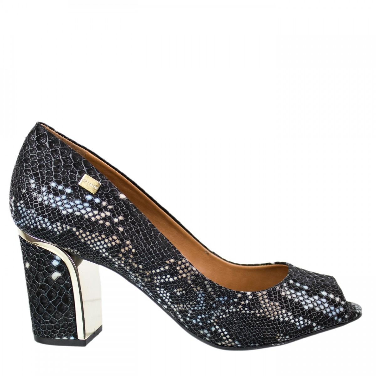 98cc64d8f Sapato Peep Toe Luz da Lua S54117 - Preto | Bizz Store
