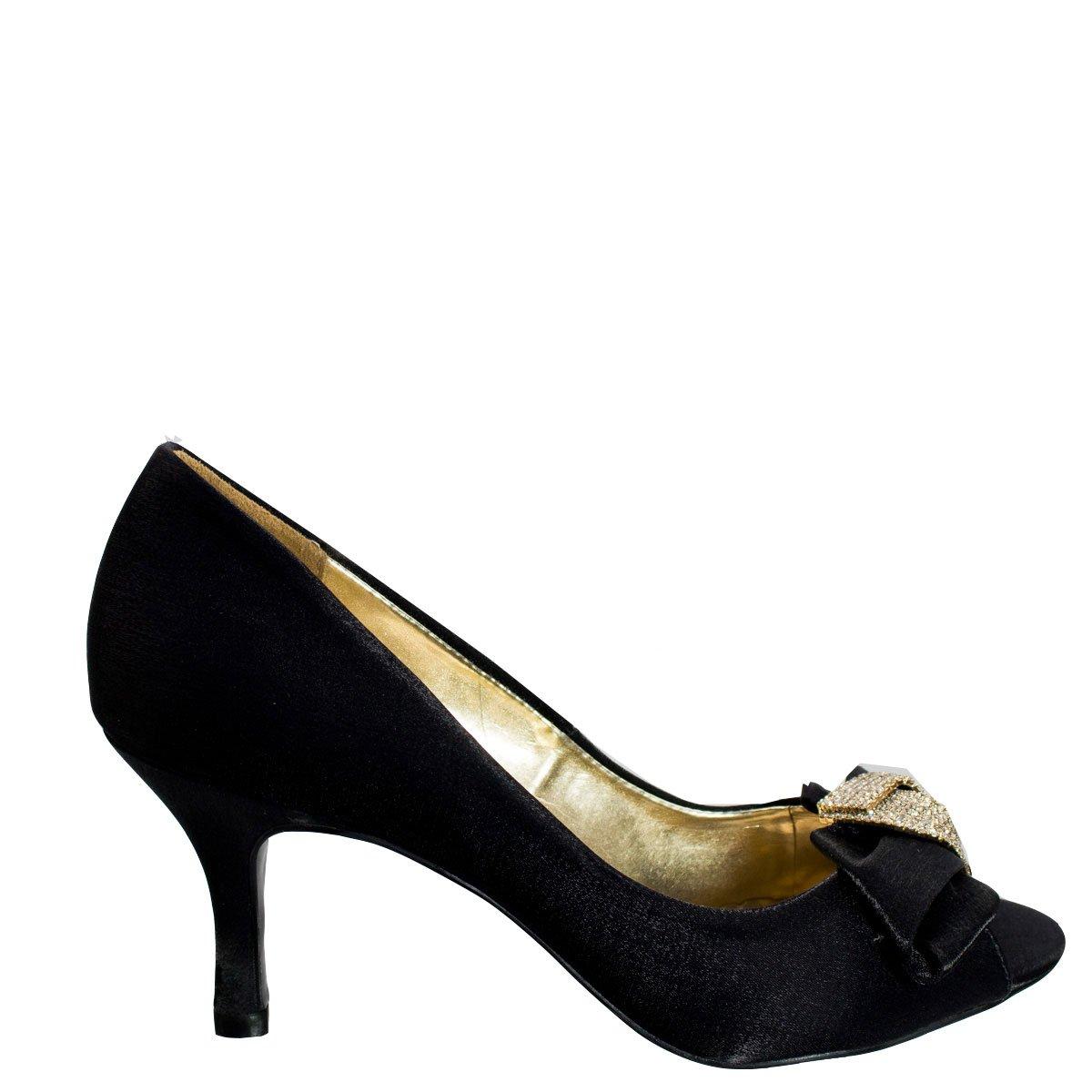 fa54cdd717 Bizz Store - Sapato Peep Toe Feminino Século XXX Preto