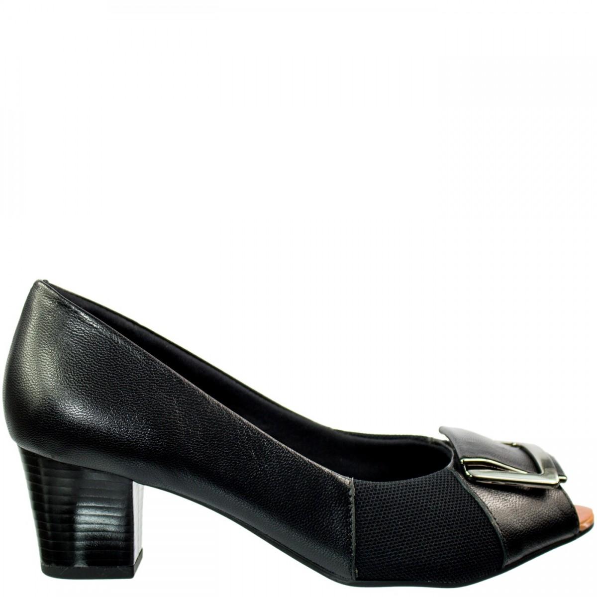 7a4c523a90 Bizz Store - Sapato Peep Toe Feminino Usaflex Para Joanetes