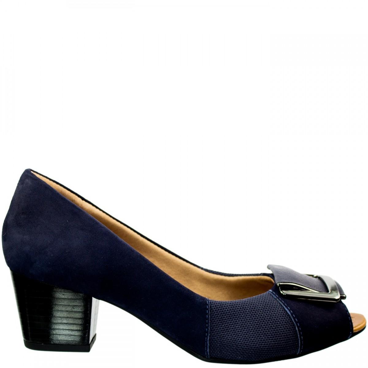 5650e1001 Bizz Store - Sapato Peep Toe Feminino Usaflex Para Joanetes