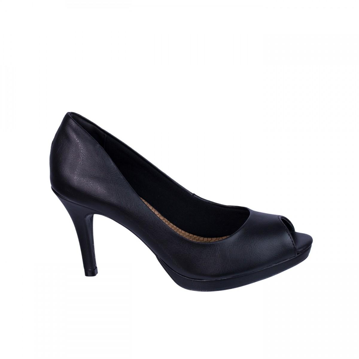 4c8f7bc6be Bizz Store - Sapato Peep Toe Feminino Via Marte Napa New