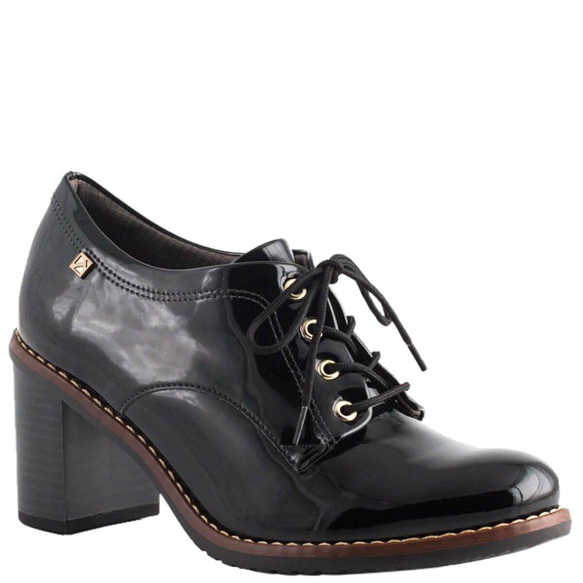 61847df6d Bizz Store - Oxford Feminino Piccadilly Verniz Salto Grosso
