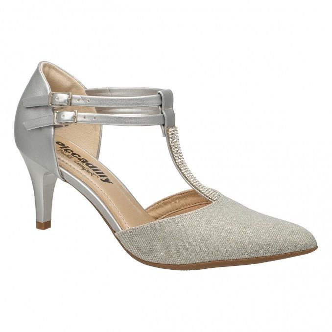 3a19ffee0 Bizz Store - Sapato Scarpin Feminino Piccadilly Prata Salto Baixo