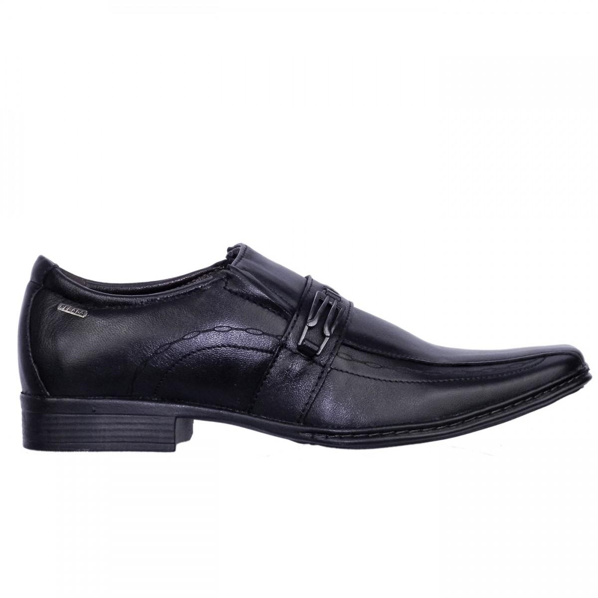 500160960ee Bizz Store - Sapato Social Masculino Pegada Couro Preto Brown