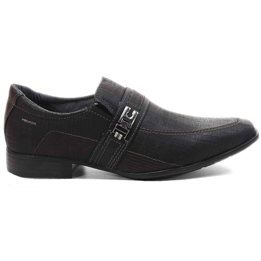 eb9b220e65 Bizz Store - Sapato Social Pegada Masculino Trexin Preto 23202