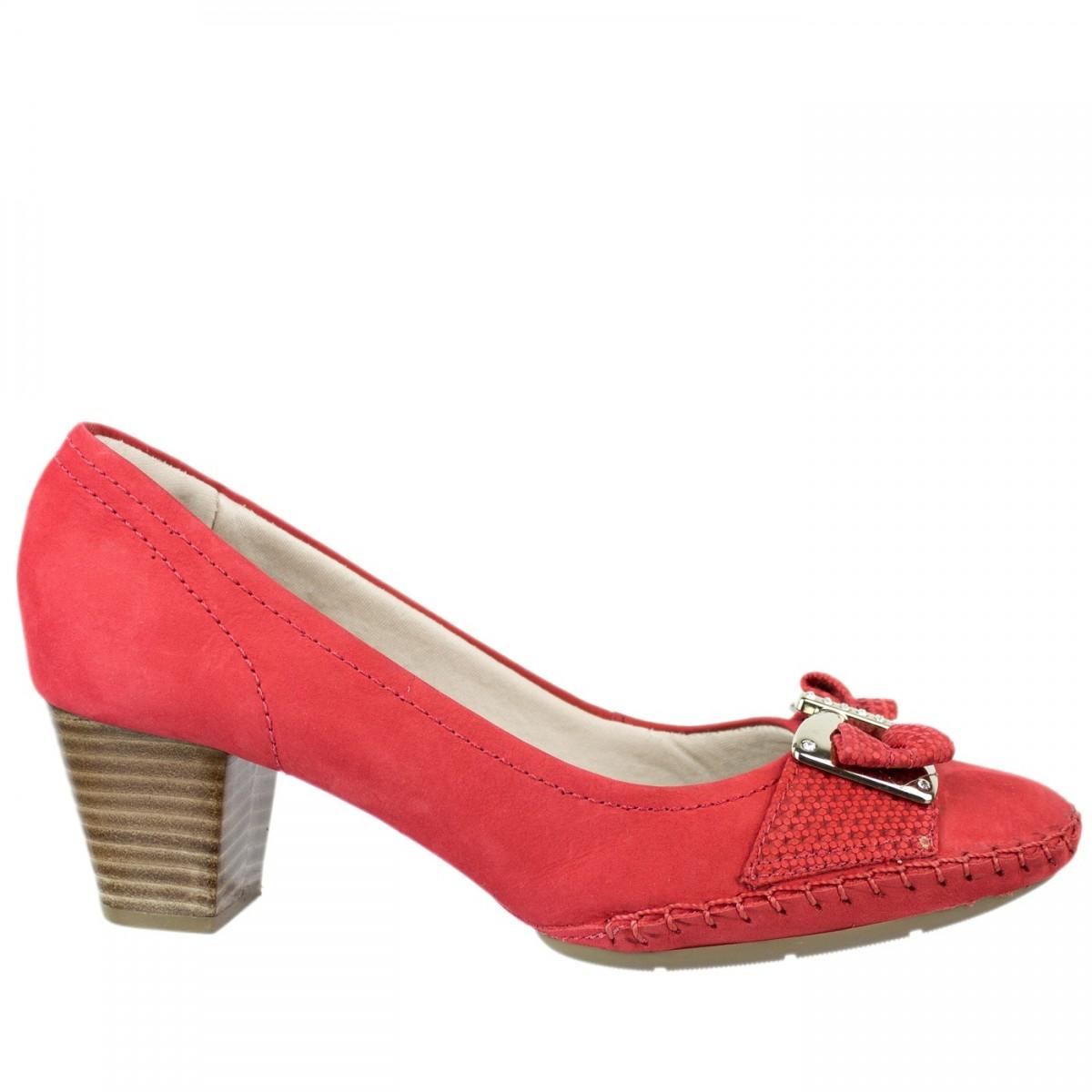 Sapato Velour Usaflex C7282 - Vermelho  1365b901027f7