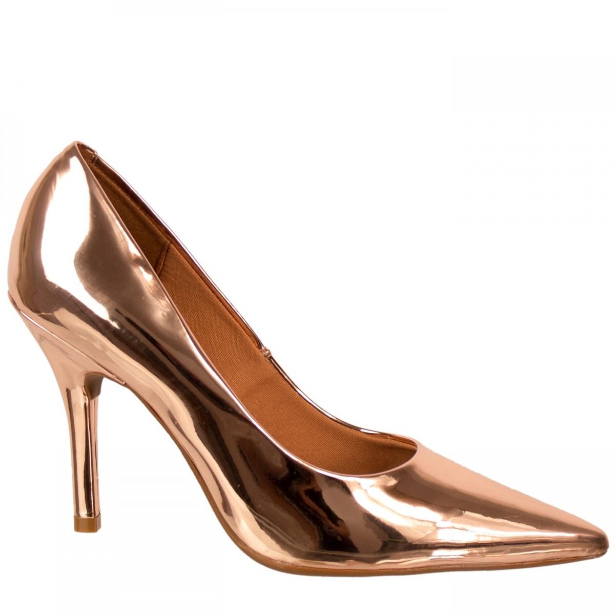 6a6148f8e9 Bizz Store - Scarpin Metalizado Feminino Vizzano Metal Glamour
